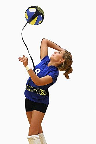 KEAIMEI - Attrezzatura da Allenamento per pallavolo, Pallone da pallavolo, Palla da Allenamento con spuntoni, Cintura Regolabile in Vita, per allenare Le Braccia