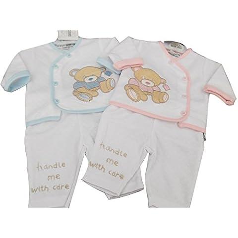BNWT para bebé (talla bebés prematuros Reborn ropa 2piezas teddy chaqueta y pantalones