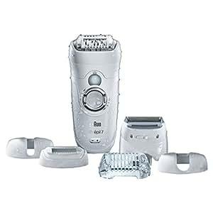 Braun Silk-Épil 7 7-561 Wet&Dry Epilatore Elettrico senza Fili con 6 Accessori