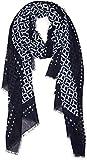 Tommy Hilfiger Damen Schal TH Monogram, Blau Navy 413, One Size (Herstellergröße: OS)