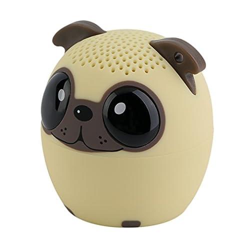 Mini Enceinte Tsing Enceinte Portable Bluetooth Haut-parleur Audio Enceinte sous la Forme d'Animal 4 Heures à Jouer Parfaitement pour les Sports en d'Hors (Chien)