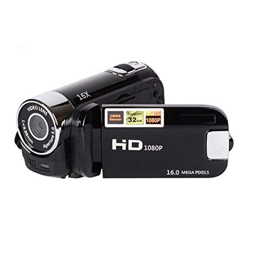 D90-Kamera-Digitalkamera 16MP Ultra HD-Kamera 180-Grad-Drehung Flip-Screen-Kamera Digitalkamera SLR 4X Digitalzoom - Schwarz (Slr-kamera Flip Screen)