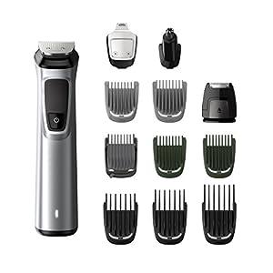 Philips MG7710/15 - Recortador de barba y precisión 12 en 1 tecnología Dualcut, autonomía de 120 minutos de Philips