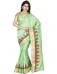 The Chennai Silks - Jute Silk Saree - Jasmine Green - (CCRIFA332)