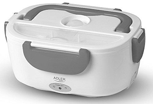 Elektrische Vesperbox | Isolierbehälter | Thermobehälter | Lunchbox | Essenwärmer | Maße ca: 23 x 10,5 x 16,5 cm | Kapazitätt: 1,1L | Leistung:35W (Grau)
