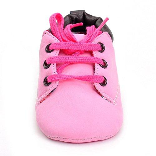 Baby Herbst Beiläufige Hohe Top T-gebunden Suede Krippe Sneakers Boots Rose