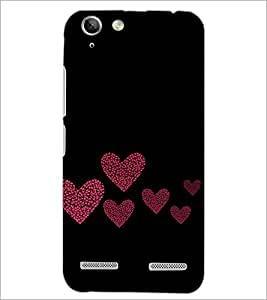 PrintDhaba Hearts D-2422 Back Case Cover for LENOVO VIBE K5 PLUS (Multi-Coloured)