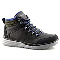 Skechers Children Boys Maddox Street Heights Boots in Black- Lace Fastening-