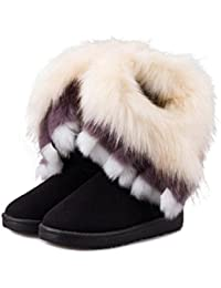 MEILI-scarponi da neve d inverno nel tubo femminile imitazione volpe stivali  di pelliccia confortevoli e caldi… b62b909607d