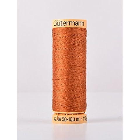 Gutermann cotone naturale 100m Quilting macchina da cucire per cucire rosso–1554 - Naturale Di Cotone Per Cucire