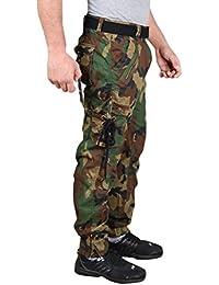 KrystleMen's Cotton Relaxed Fit Zipper DORI Cargo Jogger Pants