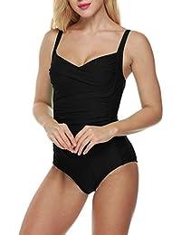 Ekouaer Monokini Badeanzug Damen Einteiler Tankini Schwimmanzug für Damen Figuroptimizer Strand Bademode