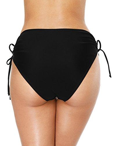 Attraco Damen Badehose Boardshort Damen Bade Hotpants Damen Badeshorts Frauen Bikini Badehose Schwarz