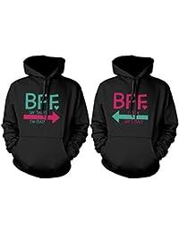 BFF accesorios BFF Pullover Sudaderas – Sudaderas con capucha para CRAZY y letras BFF mejores amigos