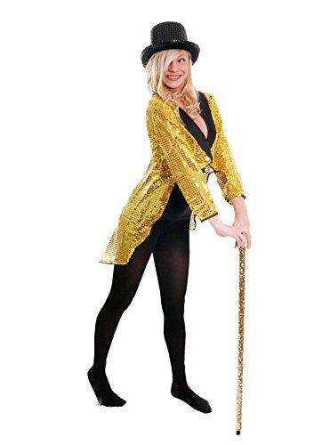 FRACK/TAILCOAT= PAILLETTEN FRACK = DAS PERFEKTE KOSTÜM FÜR JEDE TANZAUFFÜHRUNG - STEPTANZ -FASCHING UND KARNEVAL = DER SUPER KLASSE = DIESER SEQUIN FRACK IST ERHALTBAR IN 6 VERSCHIEDENEN GRÖSSEN = (Kostüme Rogers Fancy Ginger Dress)
