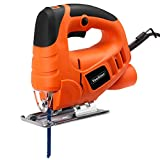VonHaus Compact 400W Electric Jigsaw | Variable Speeds, Splinter Guard, Dust Extraction Port & 3 Blades