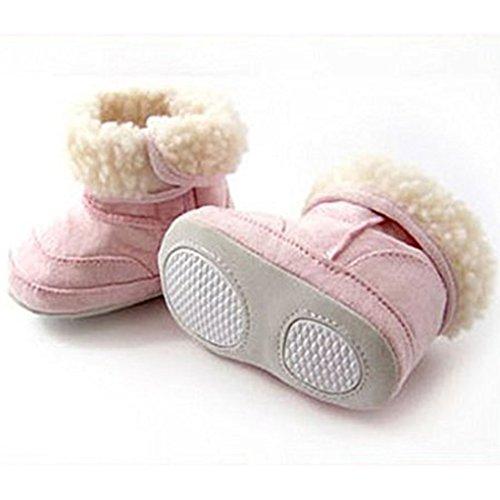 QHGstore Winter-Baby-Mädchen-Baby-Kleinkind-Schuhe nette warme Schnee-Aufladungen 12cm rosa Rosa