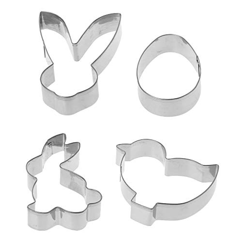 Yintiod 4 Teile/Satz Ostern Kaninchen Bunny Ei Ausstecher Form Backen Fondant Gebäck Keksform DIY Handwerk