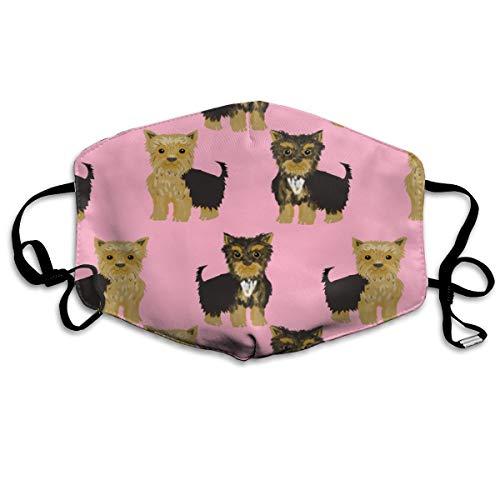 Kostüm Boy Wolf - Yorkshire Terrier Yorkie Anti-Staub-Maske, waschbar, wiederverwendbar, Pink