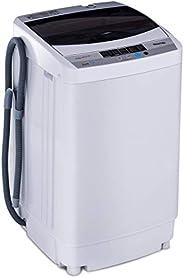 COSTWAY Lave-Linges Machine à Laver Automatique 10 Pprogrammes Affichage LED Capacité de Lavage 4, 5 kg Econom