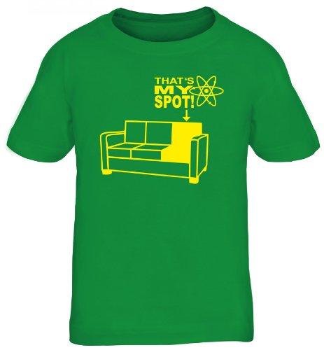 Shirtstreet24, MY SPOT, Kids Kinder Fun T-Shirt , Größe: 110/116,kelly green -