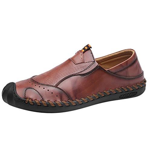 Scarpe da Barca Uomo Mocassini Uomo Pelle Estivi Classic Scarpe Loafers Slip On Scarpe da Guida Scarpe da Barca