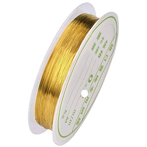 Draht, vergoldet, 0,5 mm Draht, 2 Spulen -