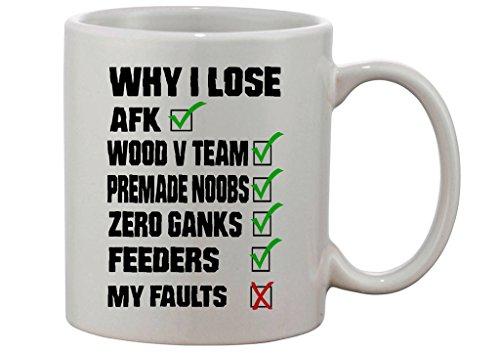 Gamer Quote Reasons Why I Lose Custom Made Mug Wow Mug