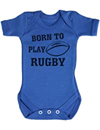 TRS - Born To Play Rugby Body bébé 100% Coton