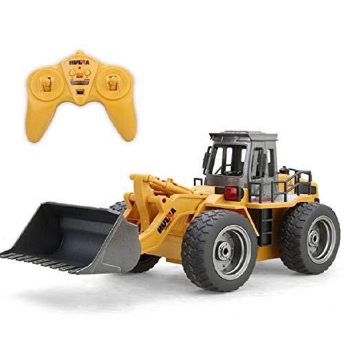 lymty Fernsteuerungslader-Planierraupe-Baufahrzeug 2,4 GHz Ferngesteuerter Alloy Shovel Traktor 4WD RC Auto mit Lichter 6 Kanal Simulation Truck für Jungen