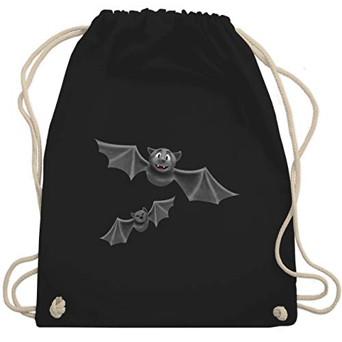 Halloween - süße Fledermäuse - Unisize - Schwarz - WM110 - Turnbeutel & Gym ()