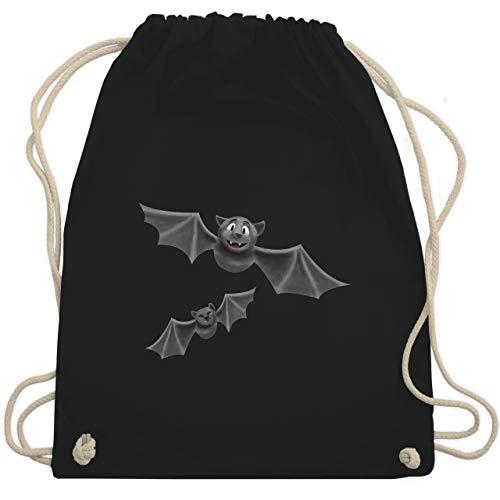 Halloween - süße Fledermäuse - Unisize - Schwarz - WM110 - Turnbeutel & Gym Bag