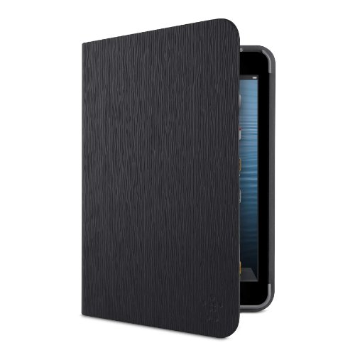 Belkin Formfit Schutzhülle für iPad Mini 4, iPad Mini 3, iPad Mini 2mit Retina-Display und iPad Mini, textuiert, Schwarz