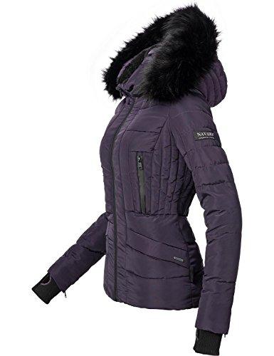 Navahoo Damen Jacke Winterjacke Steppjacke Adele (vegan hergestellt) Violett Gr. L