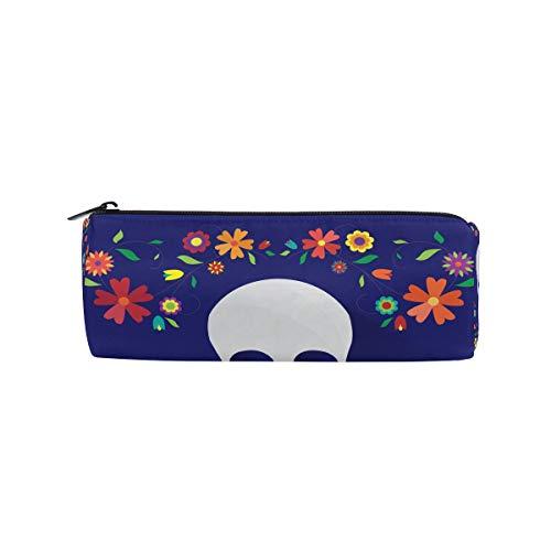 (bonipe Mexiko Day Of The Dead Sugar Skull Bleistift Tasche Schule Stationery Pen Box Reißverschluss Kosmetik Make-up-Tasche)