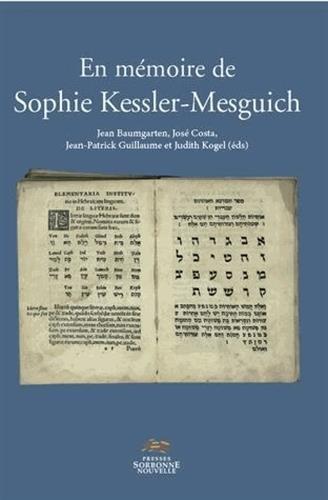 En mmoire de Sophie Kessler-Mesguich