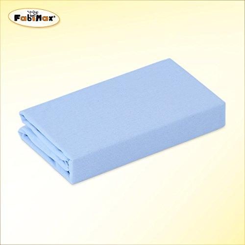 FabiMax 2691 Jersey Spannbettlaken für 6-eck Laufgitter, blau