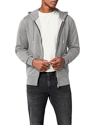 Tommy Hilfiger Herren Strickjacke Core Cotton Zip Hoodie, Grau (Cloud Htr 501), Large (Zip-strickjacke)