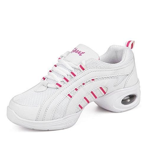 scarpe da ballo quadrati/scarpe moderne/fitness/scarpe da ginnastica/aumentare/Morbide scarpe da ballo inferiori-B Lunghezza piede=23.8CM(9.4Inch)