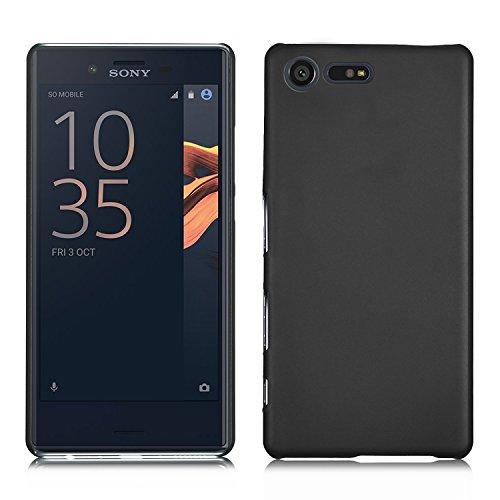 Sony Xperia X Compact Hülle, IVSO Ultra Slim Harte Rückseite Schutzhülle für Sony Xperia XCompact Smartphone (11,7 cm (4,6 Zoll) (Für Sony Xperia X Compact, Schwarz)