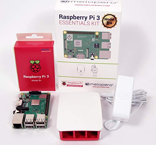 Melopero Raspberry Pi 3 Model B+ Official Essentials Kit White