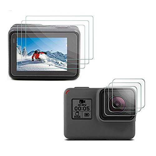 [3pcs] Deyard LCD Protector & Objectif Film de protection pour GoPro Hero 6 Hero 5 Black Action Camera