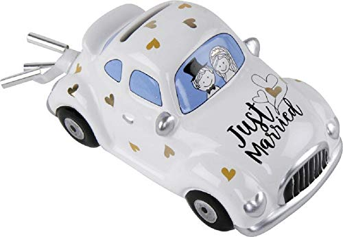 Home Collection Spardose zur Hochzeit Auto Hochzeitsauto Just Married 16,3x8,5x7,7cm