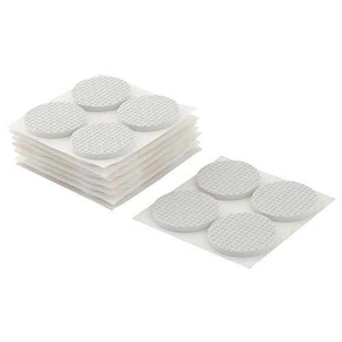 Dealmux Pieds de chaise de table ronde EVA antidérapante autocollantes film de protection pour pieds de meubles Pads Coussins 38 mm 32 pièces Blanc