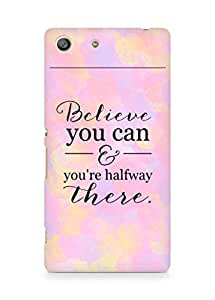 AMEZ believe you can and you are there halfway Back Cover For Sony Xperia M5
