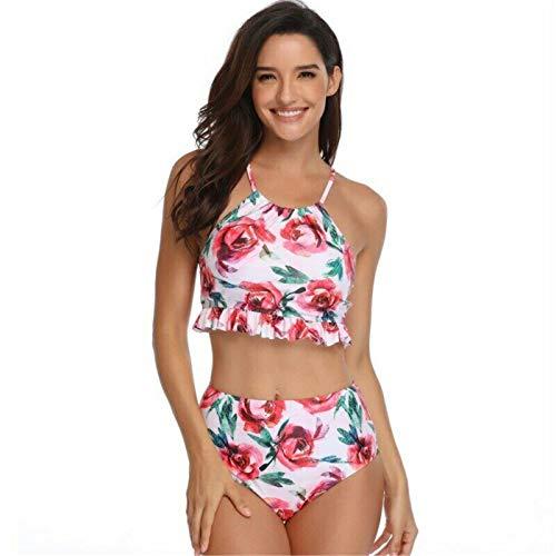 f65983c599b DROTYK& Sexy Bikini Set Women's Rose Print Kids Swimwear Girls Swimsuits  Family colthing ...