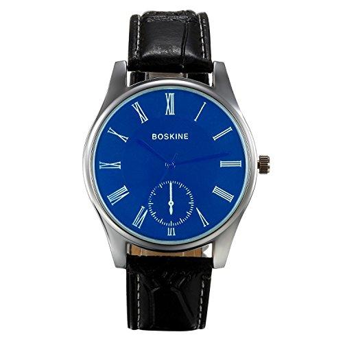 Lancardo 1 paar Damen Herren Freundschafts Armbanduhr, Klassisch Quarzuhr Elegant Paar Uhr Modisch Zeitloses Design mit blau Zifferblatt, Leder Armband , braun