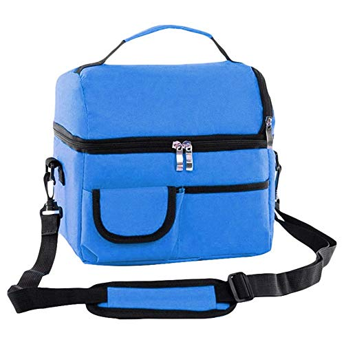 Rich overnight Thermal Lunch Bag for Women Kids Men Multifunction Food Picknick Kühler Box Isolierte Tot Bags Aufbewahrung Container,Blue2Name