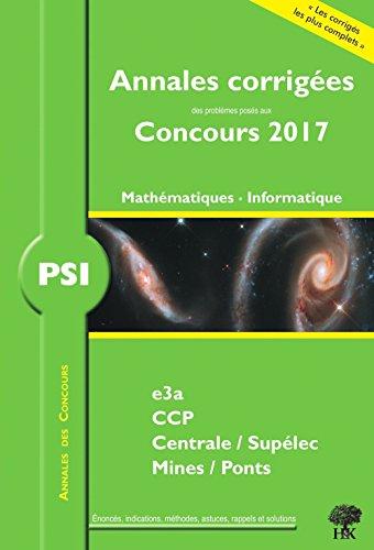 PSI Mathmatiques Informatique
