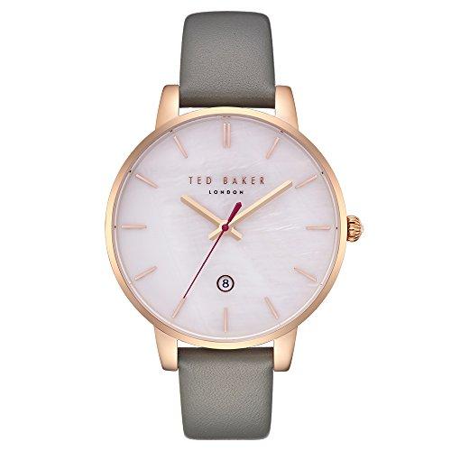 Ted Baker Damen Analog Quarz Uhr mit Leder Armband TE50310001